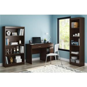South Shore Furniture Axess Desk - 43.75-in x 19-in x 30-in - Chocolate
