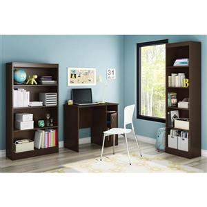 South Shore Furniture Axess Desk - 33.75-in x 19-in x 30-in - Chocolate