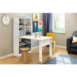 South Shore Furniture Annexe Work Table and Storage - 53.3-in x 31.41-in x 59.25-in - White