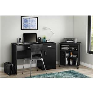 South Shore Furniture Axess Desk and Printer Stand - 42-in x 20-in x 36.75-in - Black