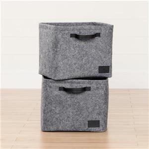 South Shore Furniture Storit Large Woven Felt Baskets - Gray - 2-pk