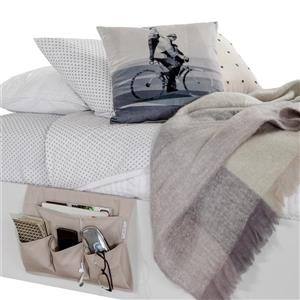 South Shore Furniture Storit Canvas Bedside Storage Caddy - Beige