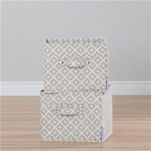 South Shore Furniture Storit Canvas Baskets - 11-in x 11-in x 9-in - Beige - 2-pk