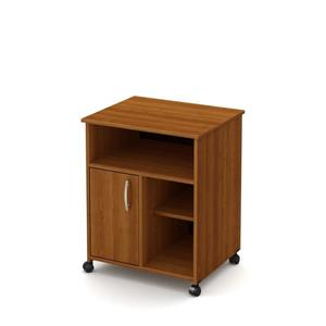 South Shore Furniture Axess Microwave Cart with Storage on Wheels - Morgan Cherry