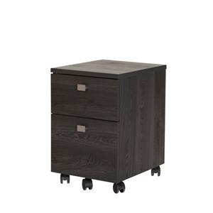 South Shore Furniture Interface 2-Drawer Mobile File Cabinet - Gray Oak
