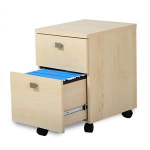 South Shore Furniture Interface 2-Drawer Mobile File Cabinet - Natural Maple