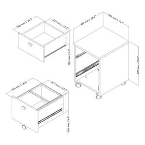South Shore Furniture Interface 2-Drawer Mobile File Cabinet - White