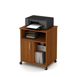 South Shore Furniture Axess Printer Cart - 23.5-in x 19.5-in x 29.37-in - Morgan Cherry