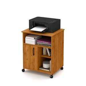 South Shore Furniture Axess Printer Cart - 23.5-in x 19.5-in x 29.37-in - Country Pine