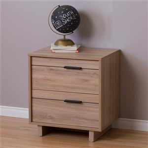 South Shore Furniture Fynn 2-Drawer Nightstand - Rustic Oak