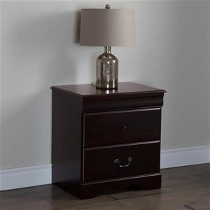 South Shore Furniture Vintage 2-Drawer Nightstand - Dark Mahogany