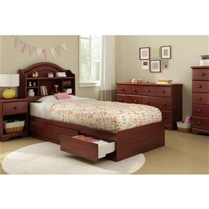 South Shore Furniture Summer Breeze 1-Drawer Nightstand - Royal Cherry