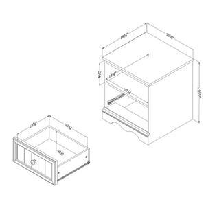 South Shore Furniture Savannah 1-Drawer Nightstand - White