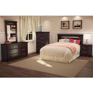 South Shore Furniture Noble 2-Drawer Nightstand - Dark Mahogany
