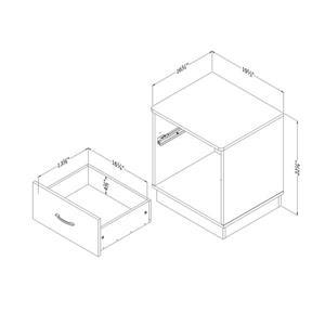 South Shore Furniture Logik 2-Drawer Nightstand - Chocolate