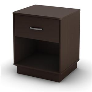 South Shore Furniture Logik 2-Drawer Nightstand - Chocolate
