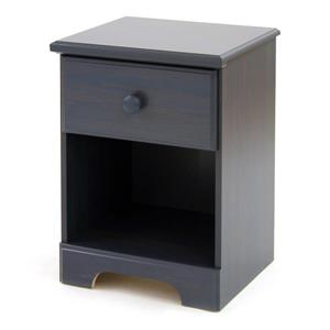 South Shore Furniture Summer Breeze 1-Drawer Nightstand - Blueberry