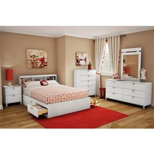 South Shore Furniture Spark 2-Drawer Nightstand - 19.5-in x 17-in x 23-in - White