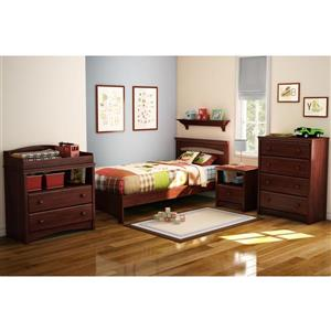 South Shore Furniture Sweet Morning 1-Drawer Nightstand - Royal Cherry