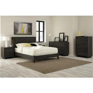 South Shore Furniture Fynn 2-Drawer Nightstand - Gray Oak