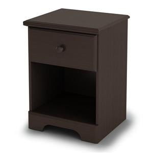 South Shore Furniture Summer Breeze 1-Drawer Nightstand - Chocolate