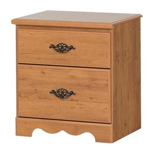 South Shore Furniture Prairie 2-Drawer Nightstand - Country Pine
