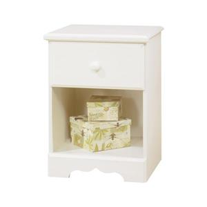 South Shore Furniture Summer Breeze 1-Drawer Nightstand - White Wash