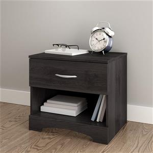 South Shore Furniture Step One 1-Drawer Nightstand - Gray Oak
