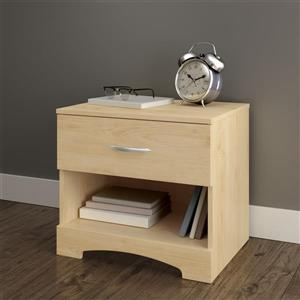 South Shore Furniture Step One 1-Drawer Nightstand - Natural Maple
