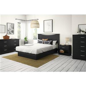South Shore Furniture Step One 1-Drawer Nightstand - Black