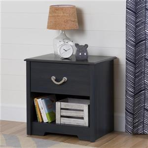 South Shore Furniture Aviron 1-Drawer Nightstand - Blueberry