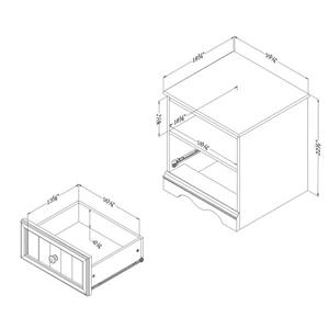 South Shore Furniture Savannah 1-Drawer Nightstand - Gray Maple