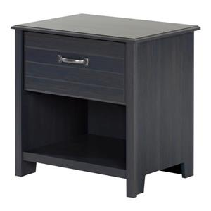 South Shore Furniture Ulysses 1-Drawer Nightstand - Blueberry
