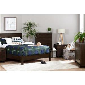 South Shore Furniture Fynn 2-Drawer Nightstand - Brown Oak