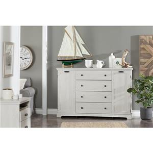 South Shore Furniture Avilla 2-Drawer Nightstand - Winter Oak