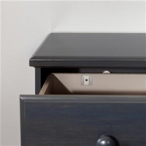South Shore Furniture Summer Breeze 2-Drawer Double Nightstand - Blueberry