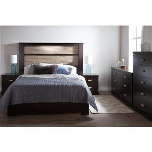 South Shore Furniture Gloria Headboard with Lights - King - Chocolate