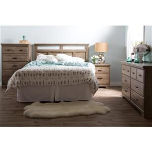 South Shore Furniture Versa Headboard - Full/Queen - Weathered Oak