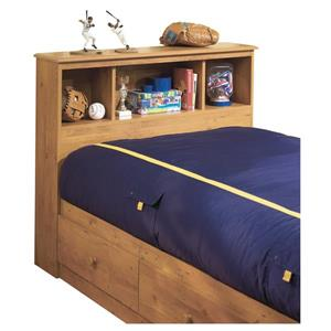 South Shore Furniture Little Treasures Bookcase Headboard - Twin - Country Pine