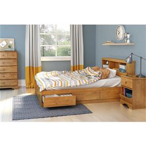 South Shore Furniture Little Treasures Bookcase Headboard - Full - Country Pine