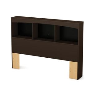 South Shore Furniture Step One Bookcase Headboard - Full - Chocolate
