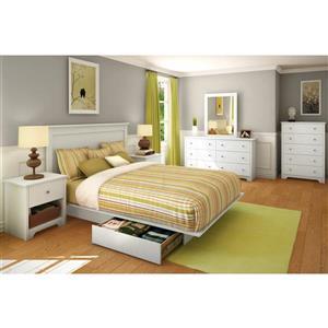 South Shore Furniture Vito Headboard - Full/Queen - White