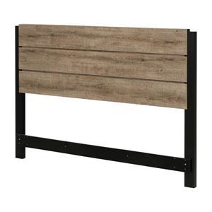 South Shore Furniture Munich Headboard - Full/Queen - Oak and Black