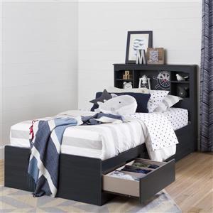 South Shore Furniture Aviron Bookcase Headboard - Twin - Blueberry