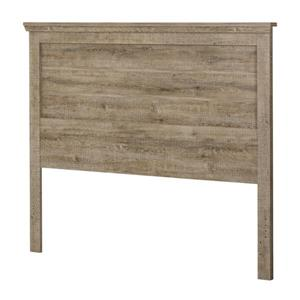 South Shore Furniture Lionel Headboard - Queen - Weathered Oak