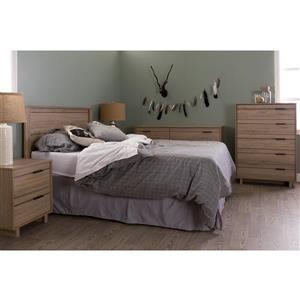 South Shore Furniture Fynn Headboard - Full - Rustic Oak