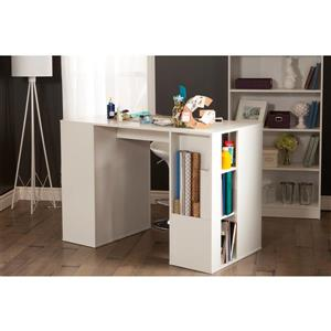 South Shore Furniture Crea Counter-Height Craft Table - 53.25-in x 26.75-in x 34-in - White
