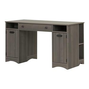 South Shore Furniture Artwork Craft Table with Storage - Gray Maple