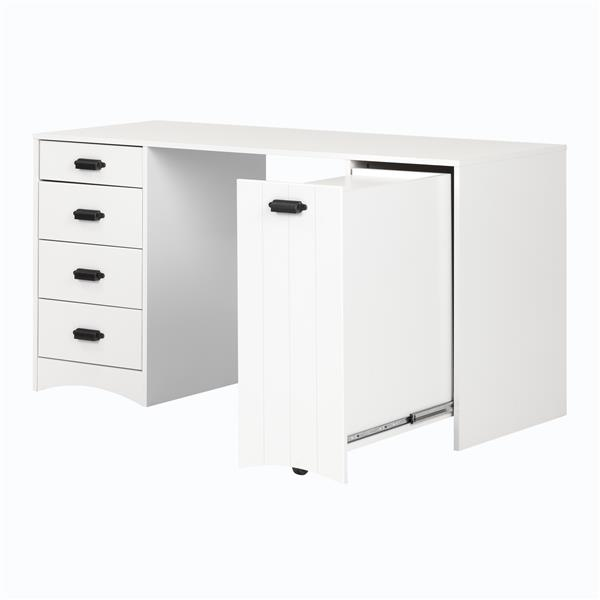 South Shore Furniture Artwork Craft Table With Storage White Lowe S Canada