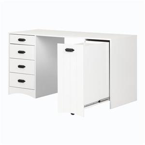 South Shore Furniture Artwork Craft Table with Storage - White